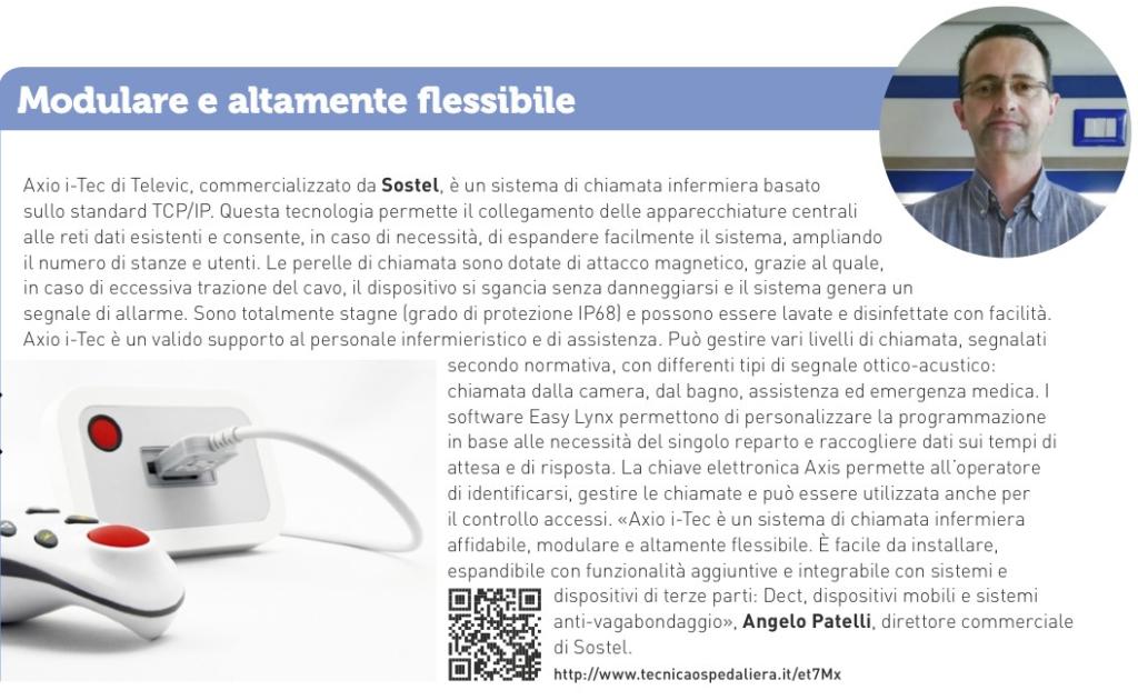 Chiamata Infermiera Axio i-Tec - modulare e flessibile